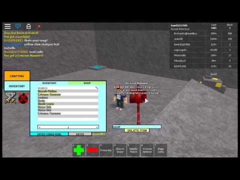 all code in roblox craftwars ...