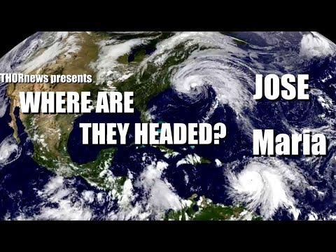 Where are Hurricane Maria & Jose headed?