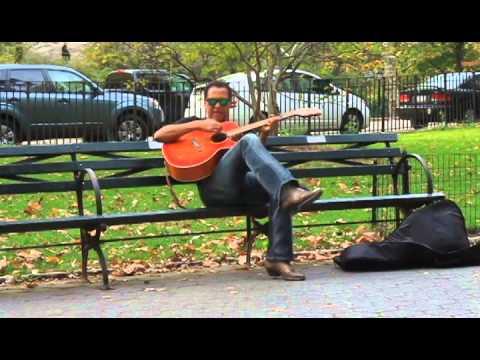 Ellis Hooks Busking In New York City's Central Park