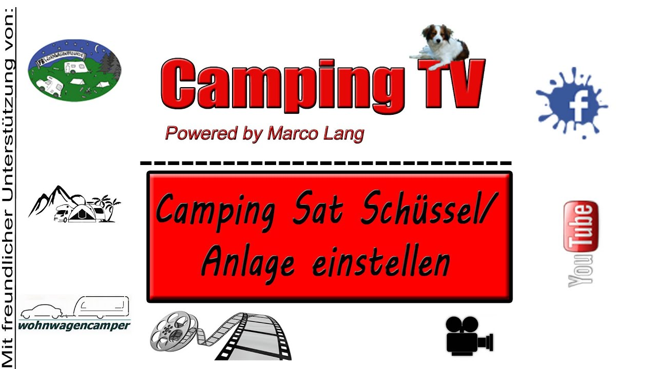 camping sat sch ssel anlage einstellen youtube. Black Bedroom Furniture Sets. Home Design Ideas