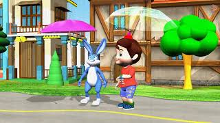 Learn Colors Umbrellas Funny Bunny Baby 3D Cartoon Videos for Kids