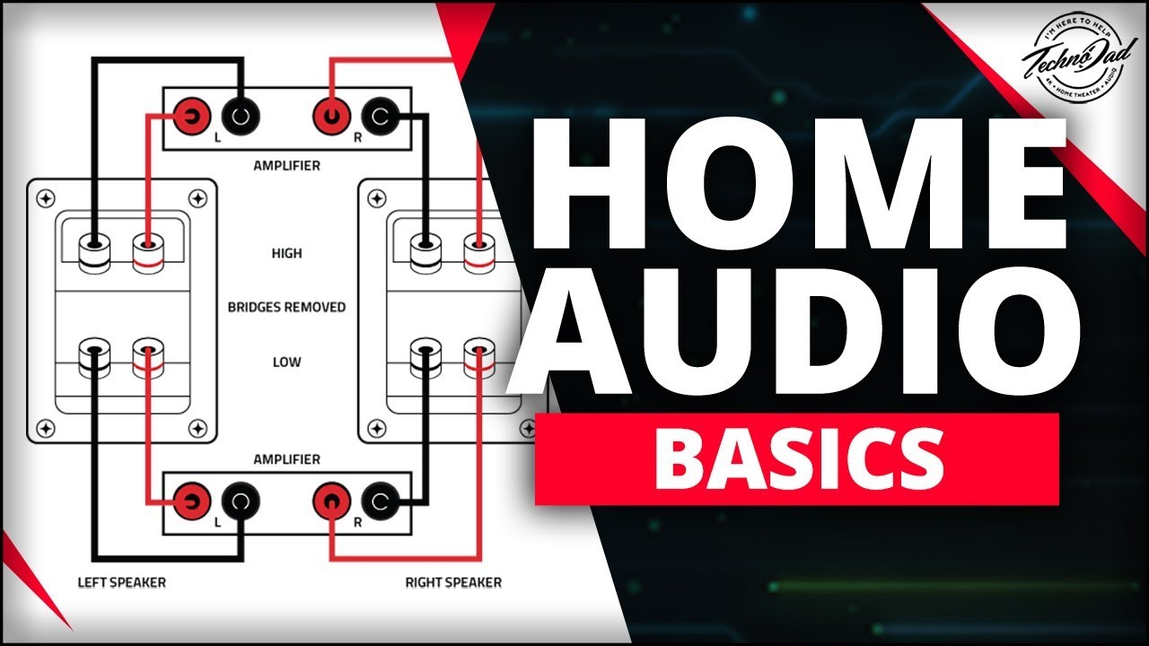 How To Bi Amp And Wire Your Speakers Home Audio Basics Youtube Marantz 7 Circuit Diagram Technodad Homeaudiobasics