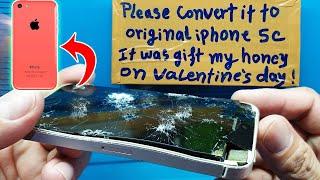 Restoration destroyed phone   Restore iPhone 5c   Rebuild broken phone