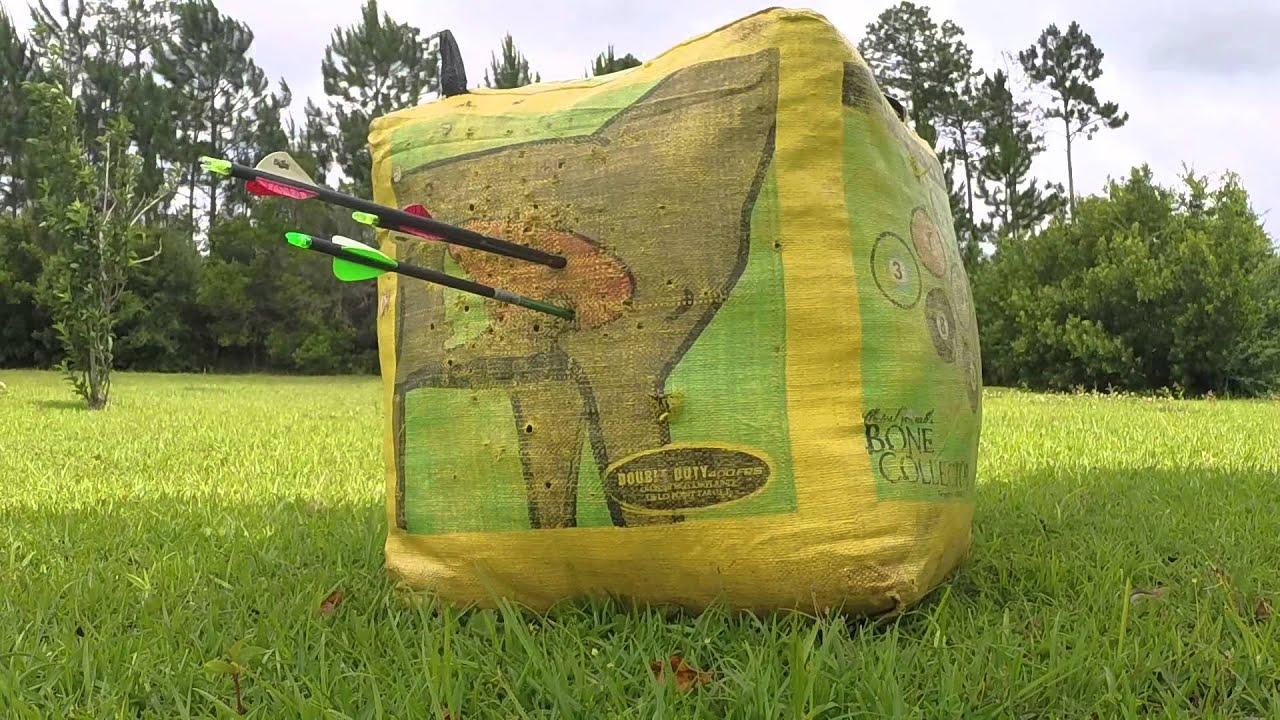 Backyard archery target shooting. - YouTube