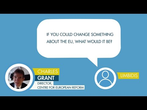 Charles Grant responds to a question to Limbidis on changing the EU