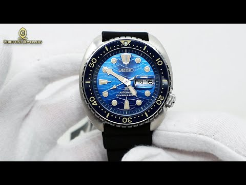 """Unboxing 2020 Seiko PROSPEX """"King Turtle"""" - """"Save The Ocean"""" Great White Shark Edition SRPE07K1"""