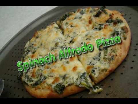 Spinach Alfredo Pizza Recipe by Bhavna