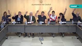 Ajuntament de Calafell: Sessió plenària extraordinària, 18 de setembre de 2017