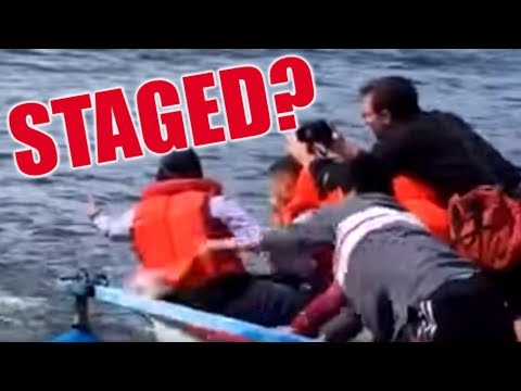 Staged Video Shows 'Refugee' Fake Drowning