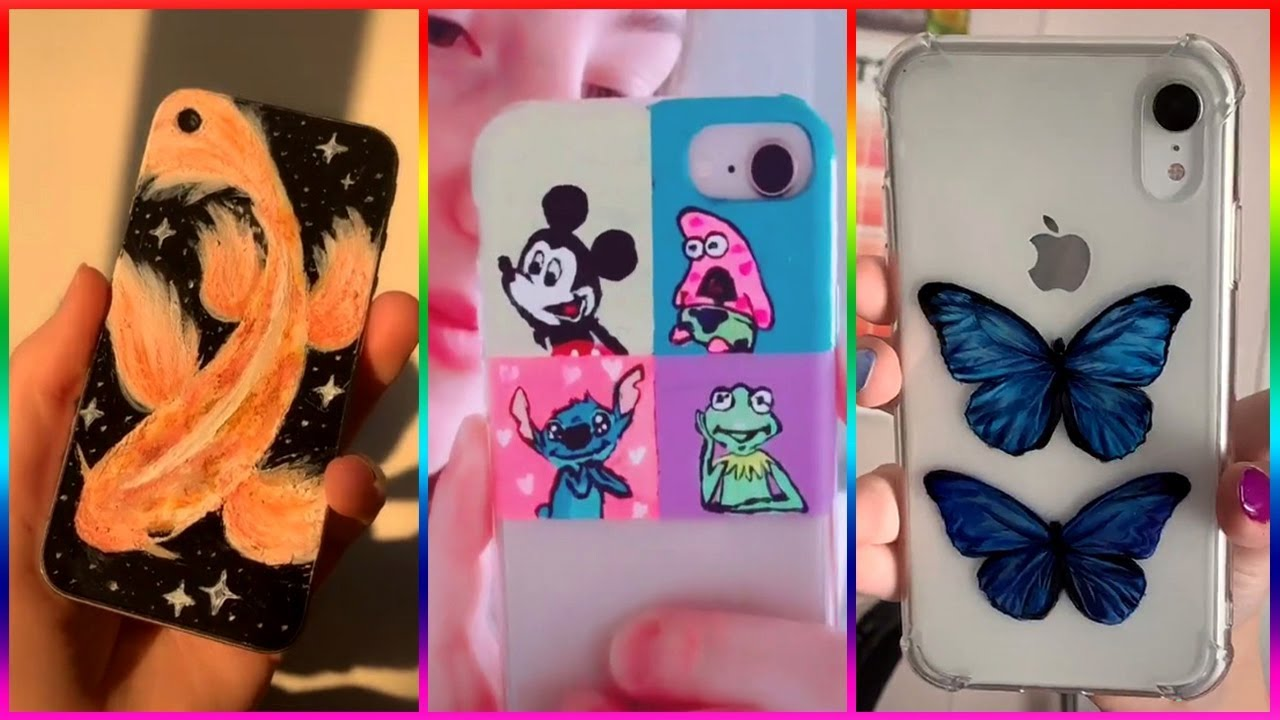 Tik Tok Painting On Phone Cases Compilation 2019 4 Youtube