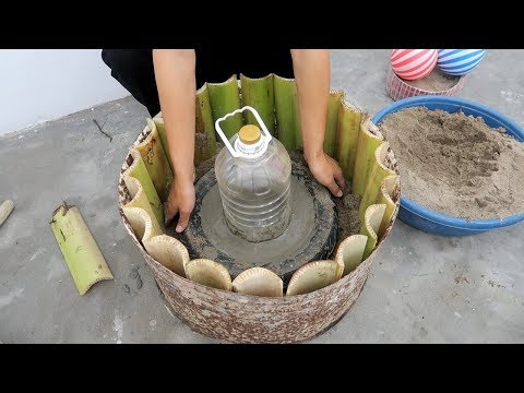 Amazing Ideas Cement For Garden - Tip Build Plant Pots Combined Fish Tank Beautiful And Easy