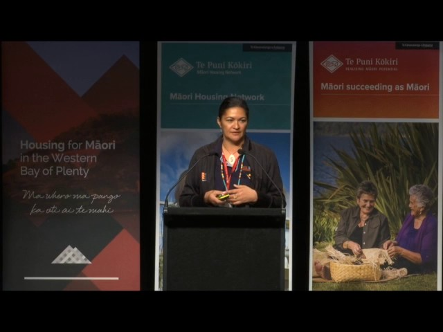 Tauranga National Māori Housing Conference 2016 - Topical Sponsor Speaker