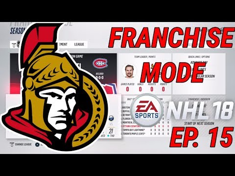 YEAR 7 SIM - NHL 18 - Franchise Mode - Ep. 15 - Ottawa