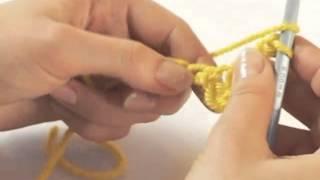 Полустолбики с накидом и вытянутой петлёй