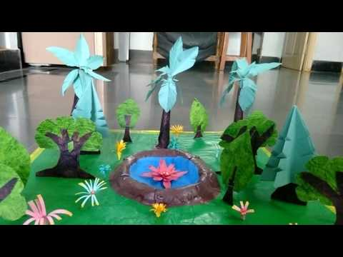 ' Full of greenery ' Model for kids project work
