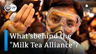 """""""Milk Tea Alliance"""": How Thai protesters have learned from Hong Kongers 