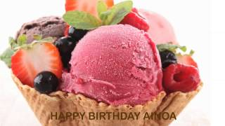 Ainoa   Ice Cream & Helados y Nieves - Happy Birthday