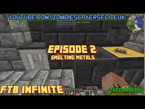 FTB INFINITE Minecraft Lets Play: Episode 2 Smelting metals