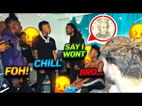 Prime & NLE Choppa Friend get into a HEATED ARGUMENT On Adin Ross Stream!