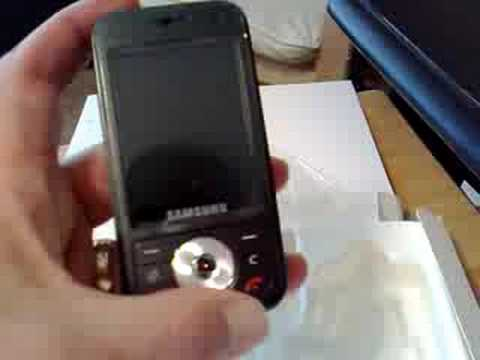 Samsung SGH-i450 Symbian device unboxing