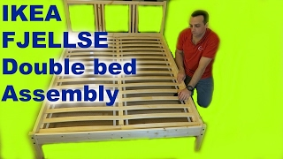Video IKEA  FJELLSE  Double Bed Frame  Assembly with  LURÖY slatted bed base. download MP3, 3GP, MP4, WEBM, AVI, FLV Desember 2017