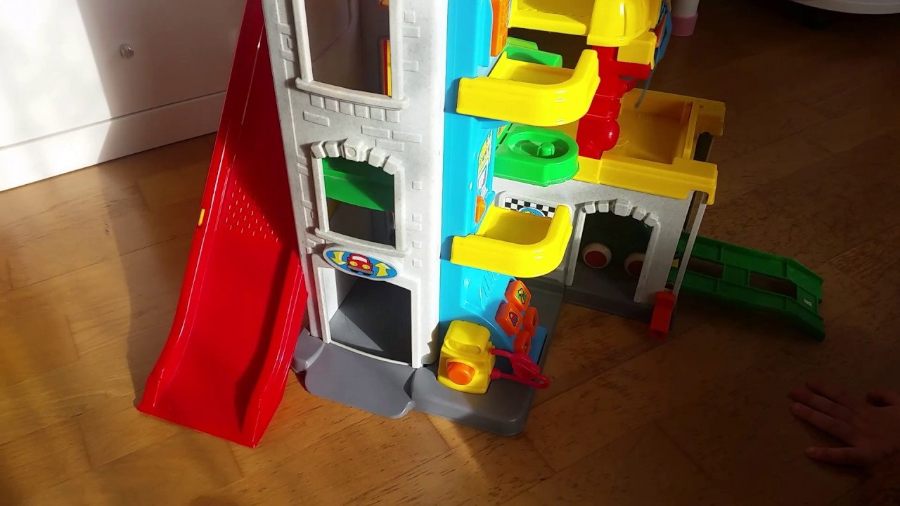 Garage Little People : Fisher price little people fun sounds garage elevator ramps