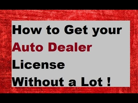 Dealer License without a Car Lot ~Updated for 2018