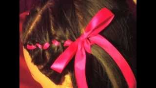 How to: cute flower girl wedding Hair Style Ribbon French Braids Tutorial
