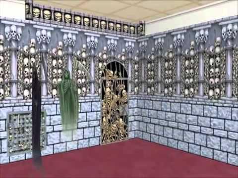 scene setters halloween graveyard theme youtube