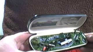Tiny Trains Model Railroad in a Glasses Case