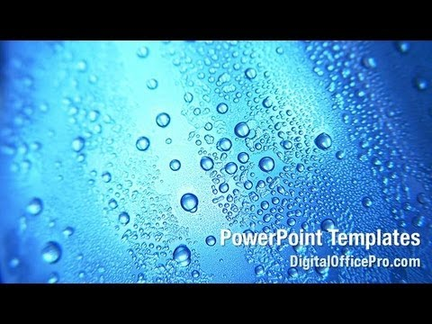 Blue water drops powerpoint template backgrounds digitalofficepro blue water drops powerpoint template backgrounds digitalofficepro 02066w toneelgroepblik Image collections
