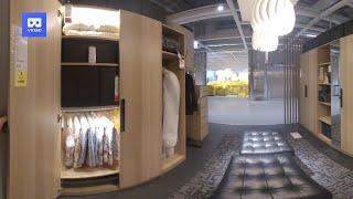 3d 180vr 4k Ikea Comfort Walk In Closet, Bathroom And Livingroom Furniture In Ikea Showroom