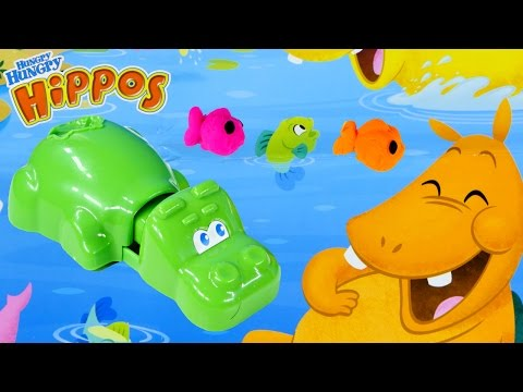 PLAY DOH Hungry Hungry Hippos Game Playdough Fish and Bird Molds Hasbro Toy by DCTC