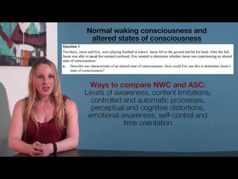 VCE Psychology - Normal Waking Consciousness and Altered States of Consciousness