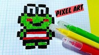 Draw Handmade Pixel Art- Como  dibujar una RANITA