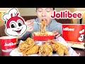 JOLLIBEE MUKBANG FEAST | Jolly Spaghetti + Chickenjoy | Filipino Fast Food & Eating Show