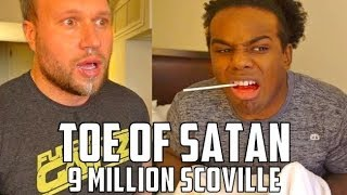 World's HOTTEST Candy Challenge w/ WWE Superstar Xavier Woods (Austin Creed) - 9 Million Scoville