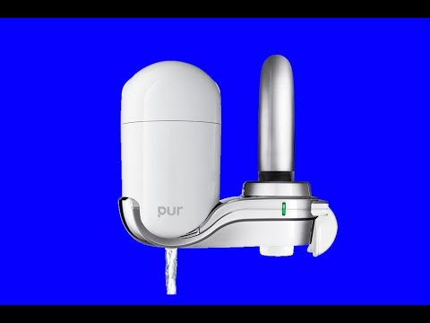 how to install new pur faucet water filters plumbing tutorial