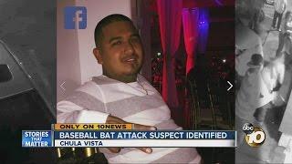 Baseball bat attack suspect identified