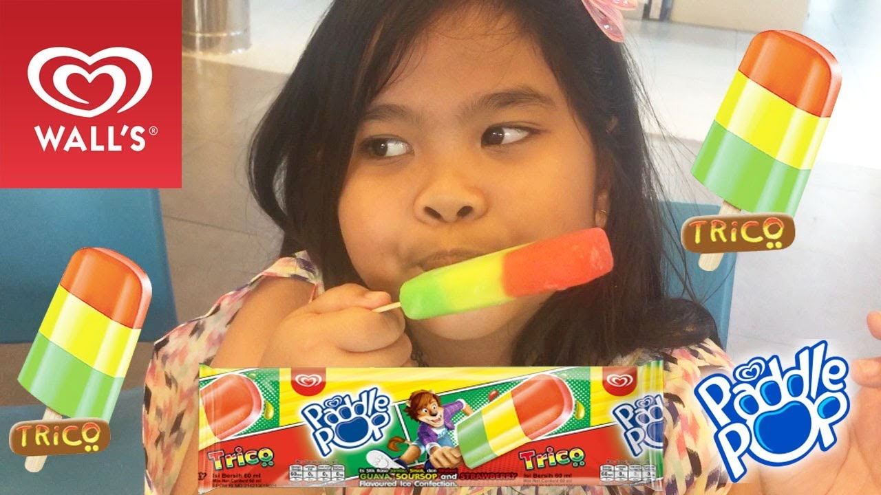 Es Krim Paddle Pop Trico Icip Icip Ice Cream Rasa Buah Youtube
