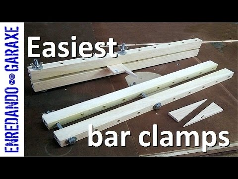 The simplest bar clamps you can make