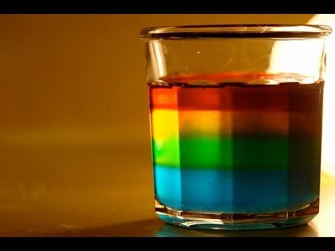 Rainbow in a Jar - Science Experiment - YouTube