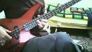 how to play john myung s solar groove with a 4 string bass
