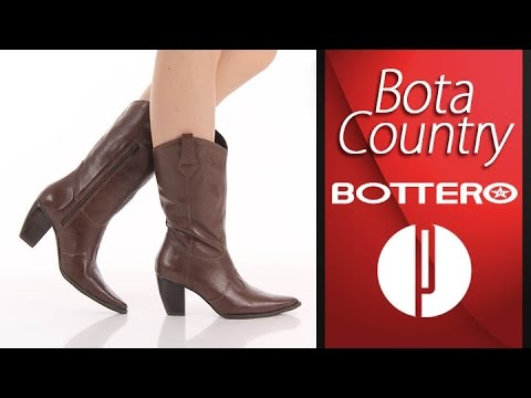 1d6ea326e Bota Country Feminina Bottero - Marrom - 6010378420 - YouTube