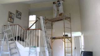 Acoustic Removal Experts Time Lapse: Working on High Ceilings