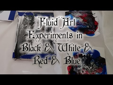 005 Fluid Art Experiments in Black and White and Red and Blue