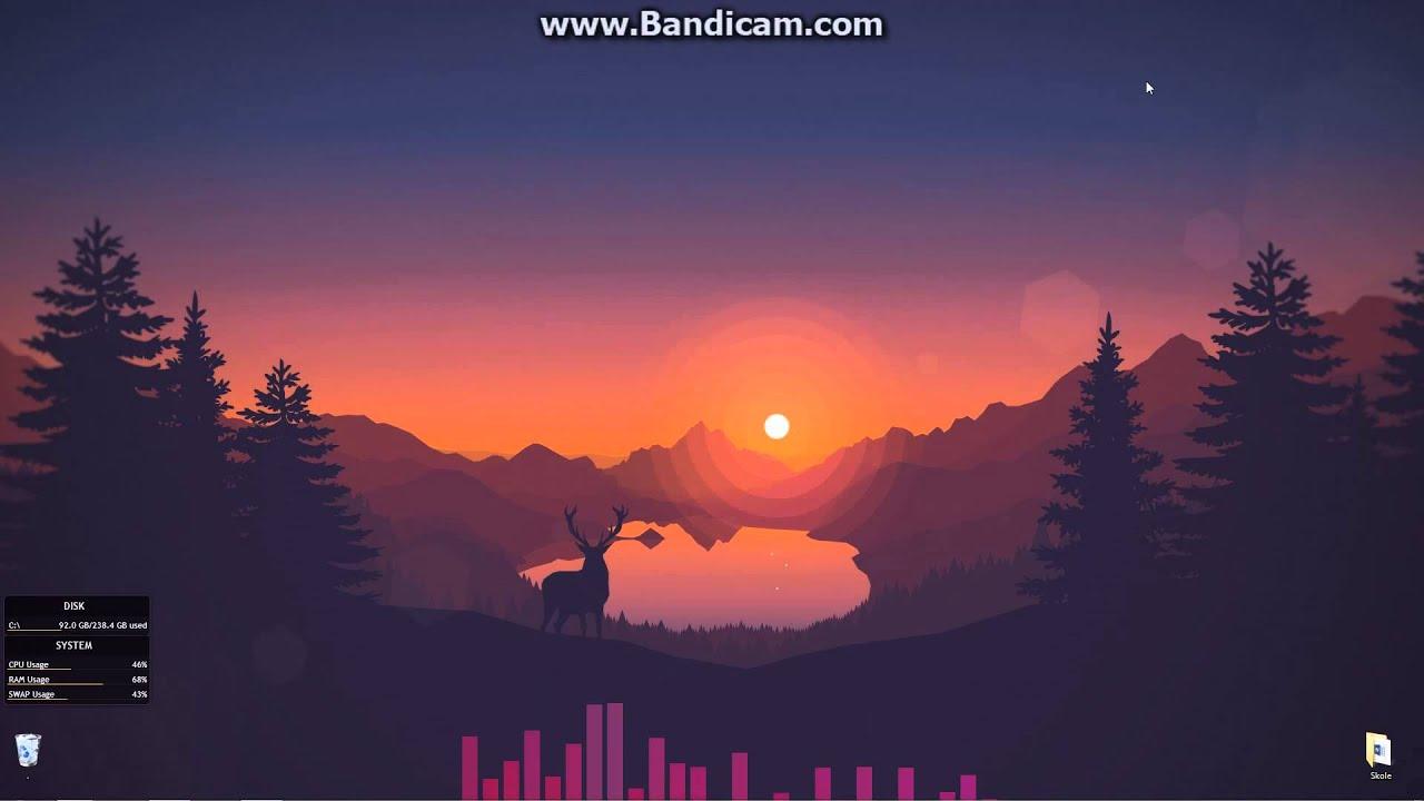 Beautiful Wallpapers 3d Animation Rainmeter Minimalist Clean Look Youtube