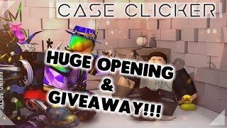 Case Clicker - HUGE OPENING + AMERICA DOMINUS GIVEAWAY @ 470 SUBS!!! - ROBLOX