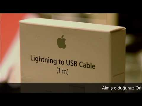 Apple iPhone Şarj Kablosu Kutu Açımı  - Original iPhone Lightnint Cable Unboxing