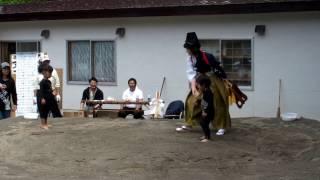 龍人保育所初めての相撲大会.